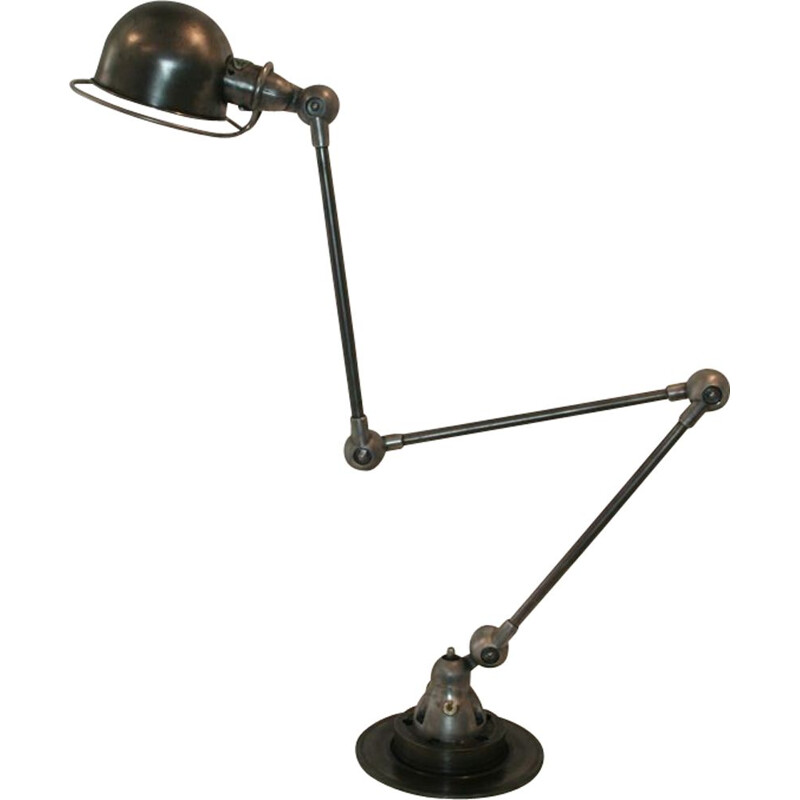 Vintage industrial table lamp by Jean Louis Domecq for Jieldé
