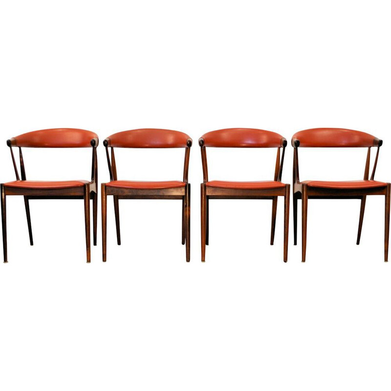 Set of 4 vintage palissander dining chairs by Johannes Andersen