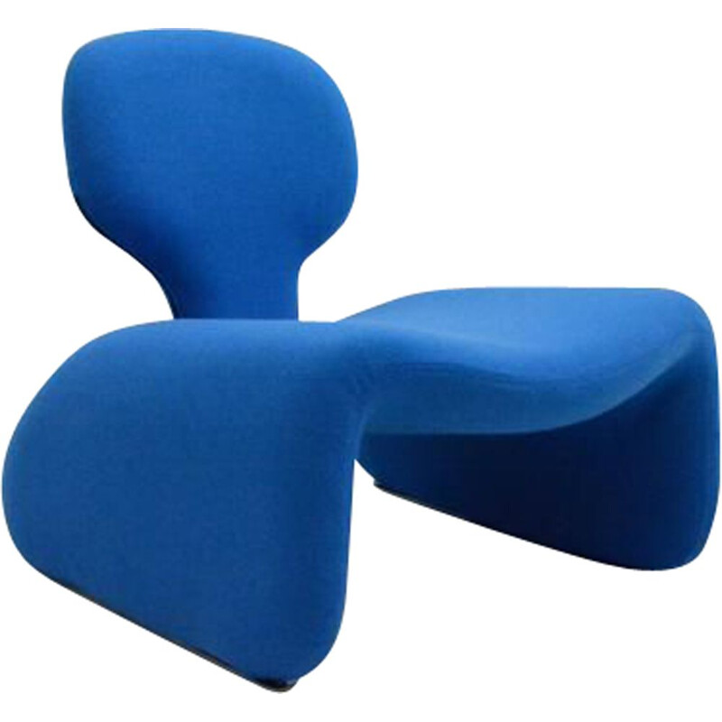 "Vintage blue armchair ""Djinn"" by Olivier Mourgue"