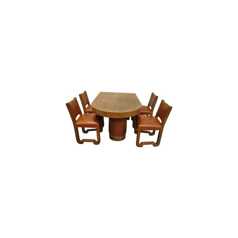 Vintage dining set by Francisque Chaleyssin