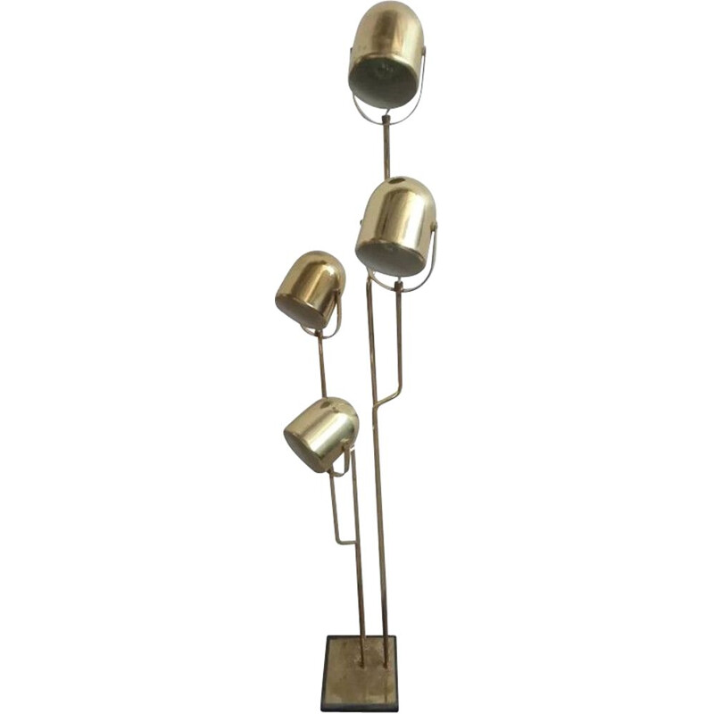 Vintage floor lamp in brass by Goffredo Reggiani
