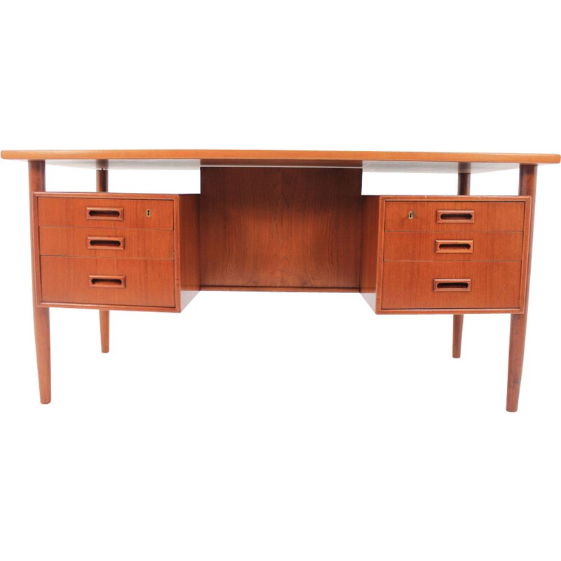 Vintage desk with bookcase by Arne Vodder
