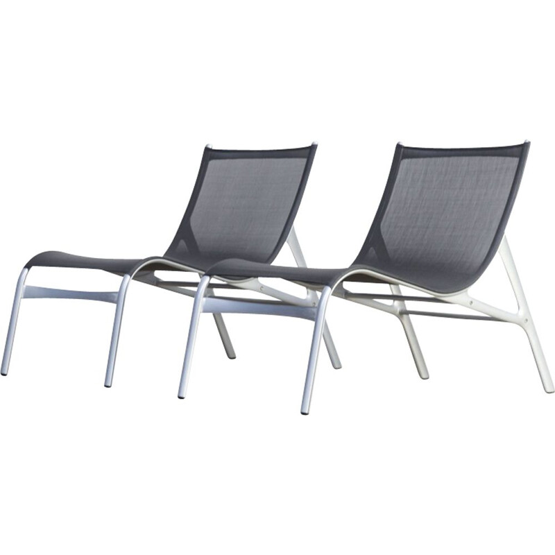 Vintage set of 2 lounge chairs model 418 by Alberto Meda for Alias
