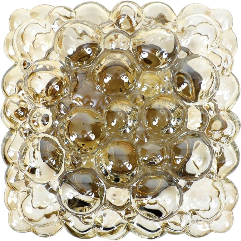 Vintage bubble glass flush mount by Helena Tynell for Limburg