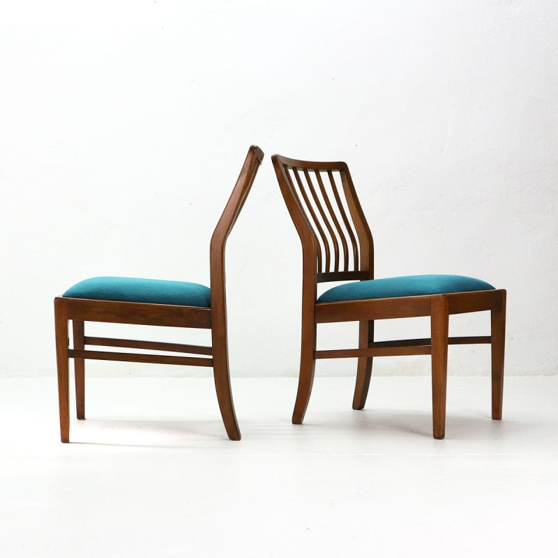 Surprising Set Of 2 Vintage Blue Chairs By Akerblom For Habeo Andrewgaddart Wooden Chair Designs For Living Room Andrewgaddartcom