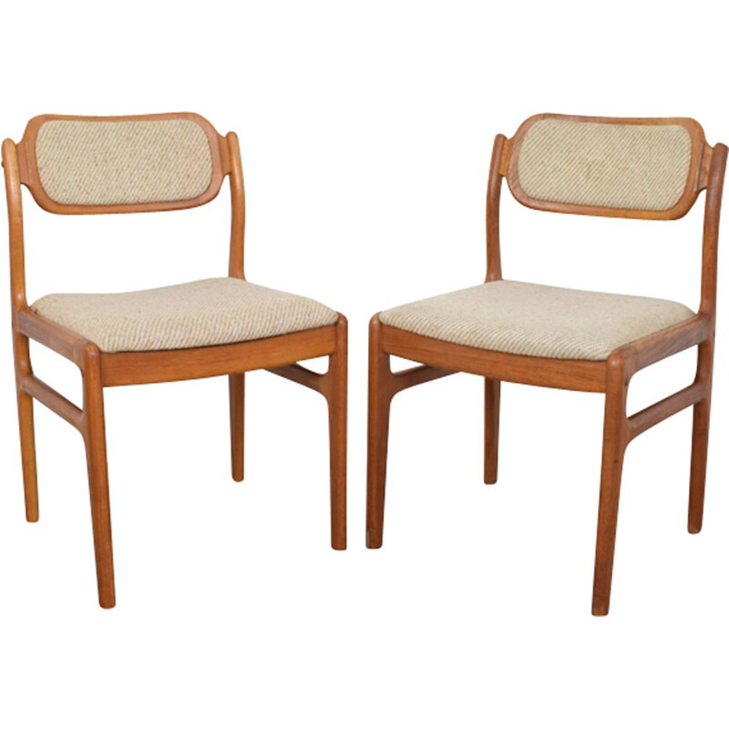 Set of 2 vintage dining chairs by Johannes Andersen for Uldum Møbelfabrik