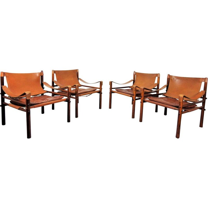 "Set of 4 vintage ""Sirocco"" armchairs by Arne Norell"