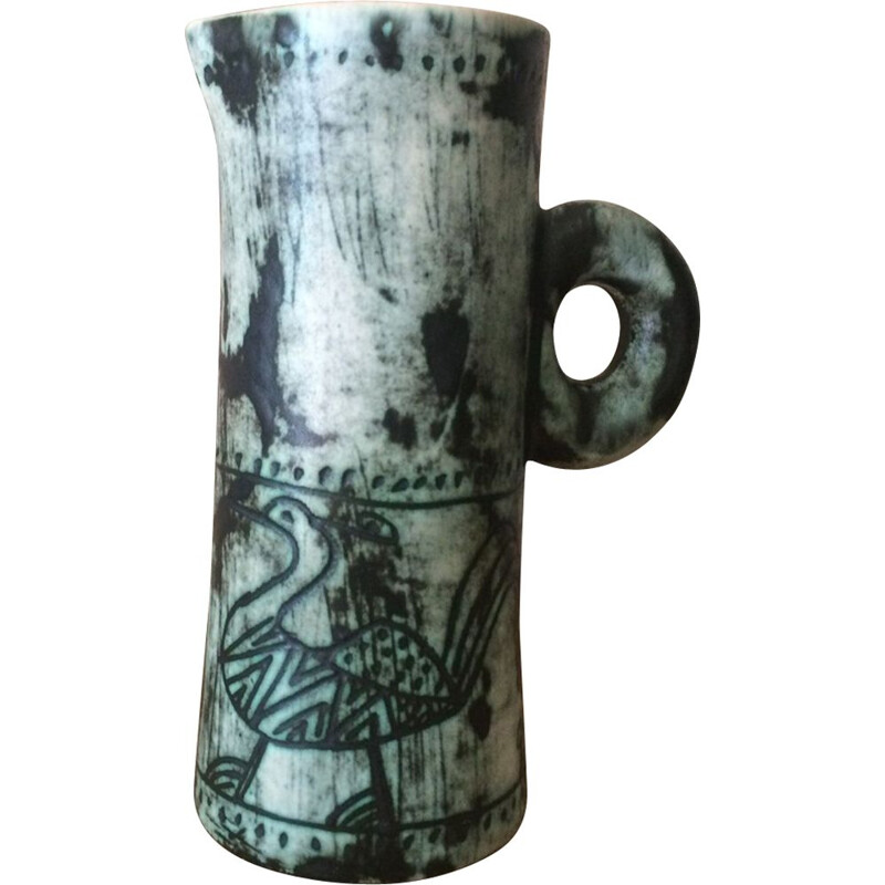 Vintage ceramic pitcher by Jacques Blin