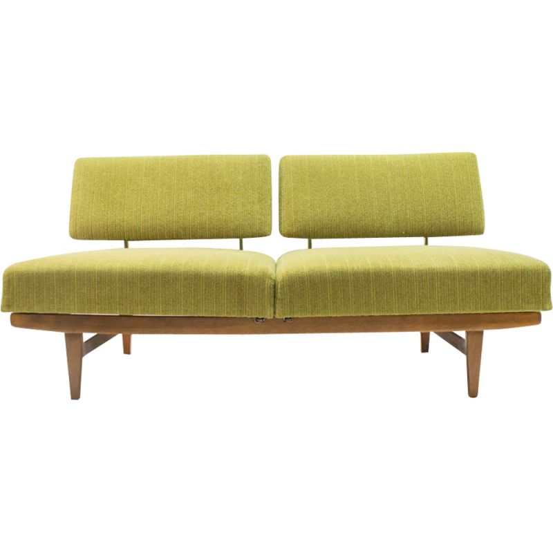 "Vintage green 3-seater sofa ""Stella"" by Knoll Antimott"