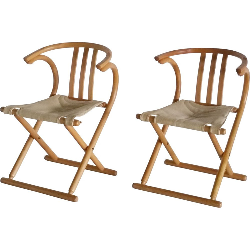 Set of 2 vintage folding chairs from Thonet