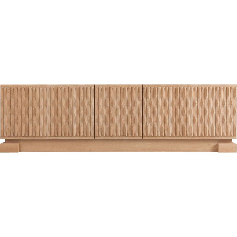 Vintage sideboard With Graphic Patterns In Oak 1970s