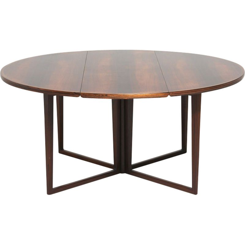 Vintage dining table in rosewood by Helge Sibast