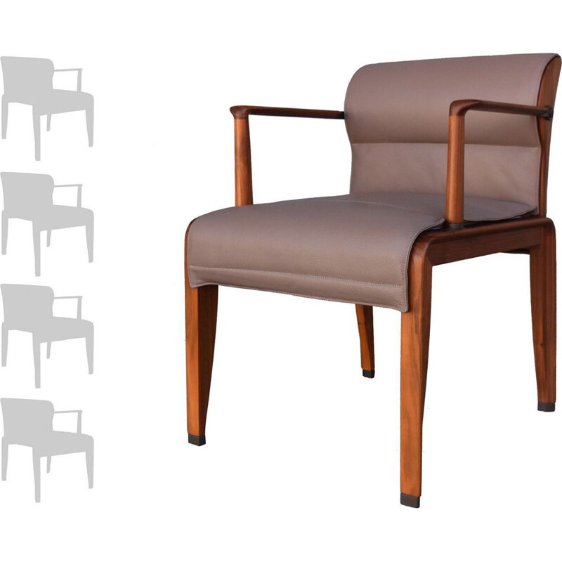 Set of 4 INA armchairs by Chi Wing Lo for Giorgetti