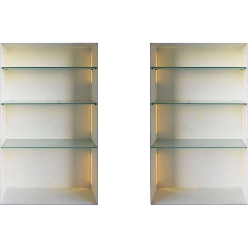 Set of 2 vintage contemporary shelves by Acerbis