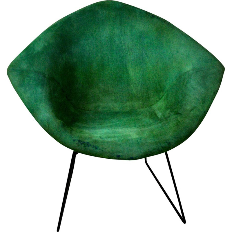 Vintage green Diamond chair by Harry Bertoia for Knoll