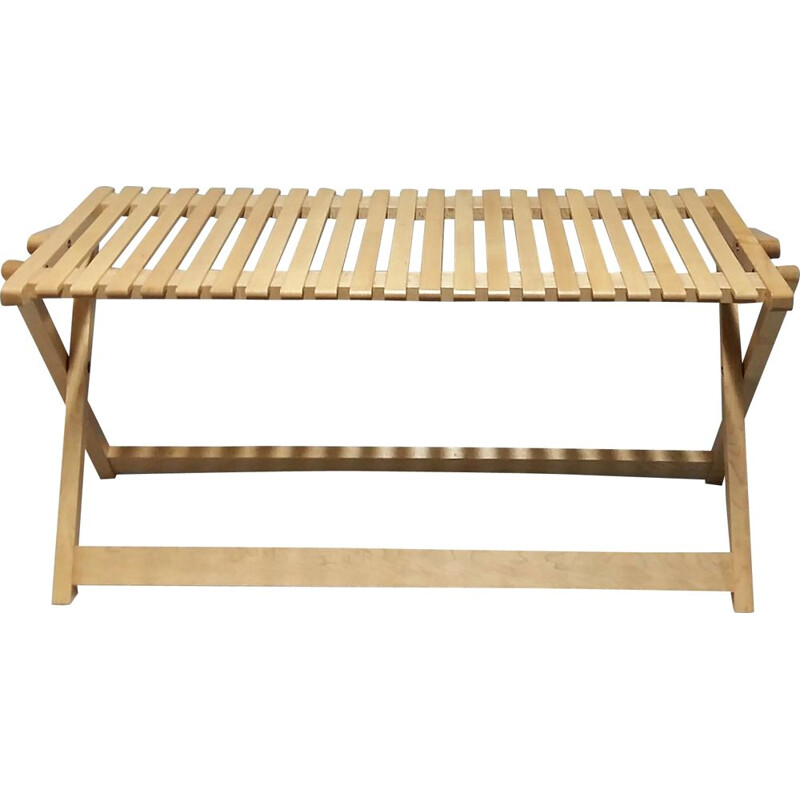 Folding bench in Maple model A5 by Jean-Claude Duboys