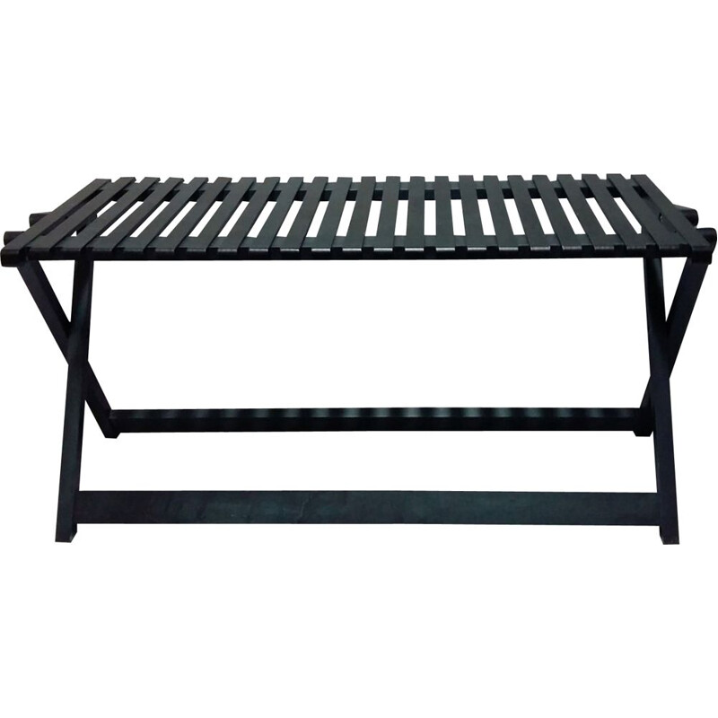 Bench folding black Maple model by Jean-Claude Duboys A5)