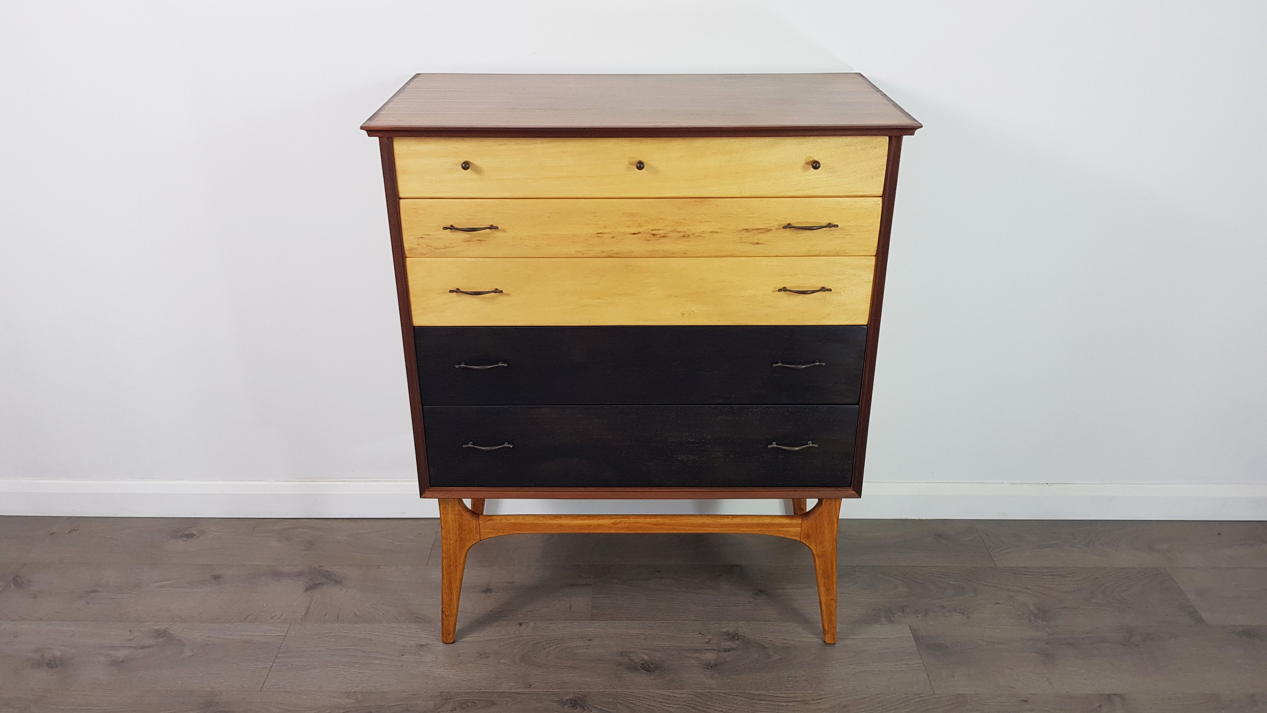 Vintage Two Toned Chest Of Drawers By Alfred Cox Design