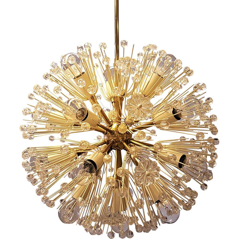 Vintage snowball chandelier by Emil Stejnar for Rupert Nikoll