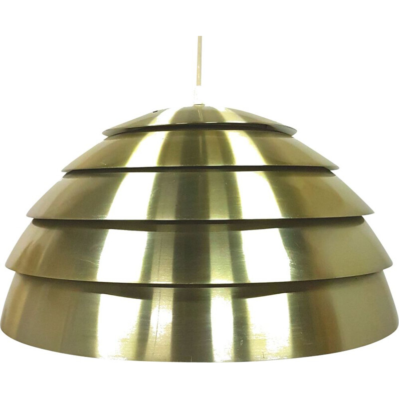 Vintage pendant lamp in metal by Hans Agne Jakobsson