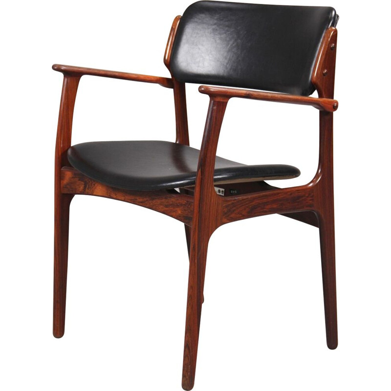 Vintage set of 2 armchairs in rosewood by Erik Buch