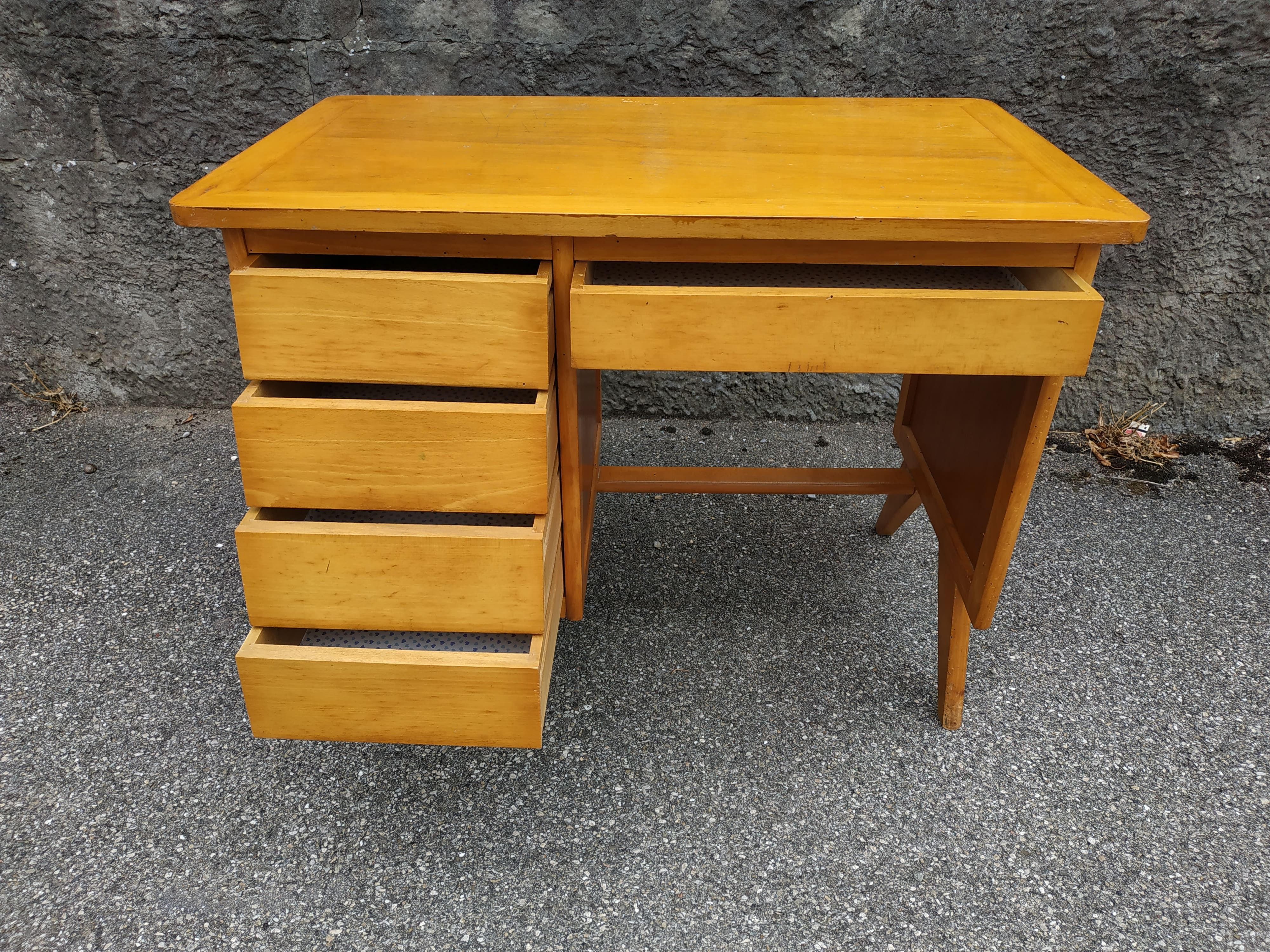 Vintage Yellow Wooden Desk Previous Next