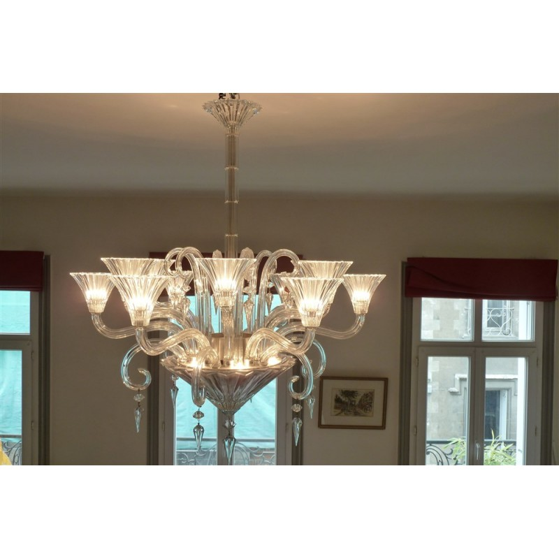 Mille nuits chandelier in light Baccarat crystal, MATHIAS - 1990s ...