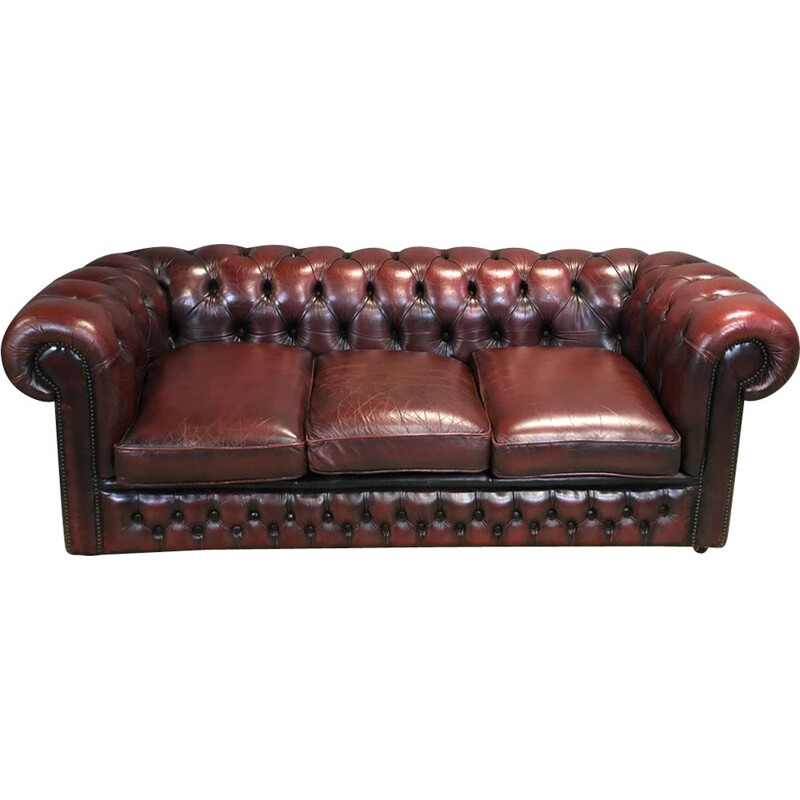 Vintage Chesterfield Sofa in leather