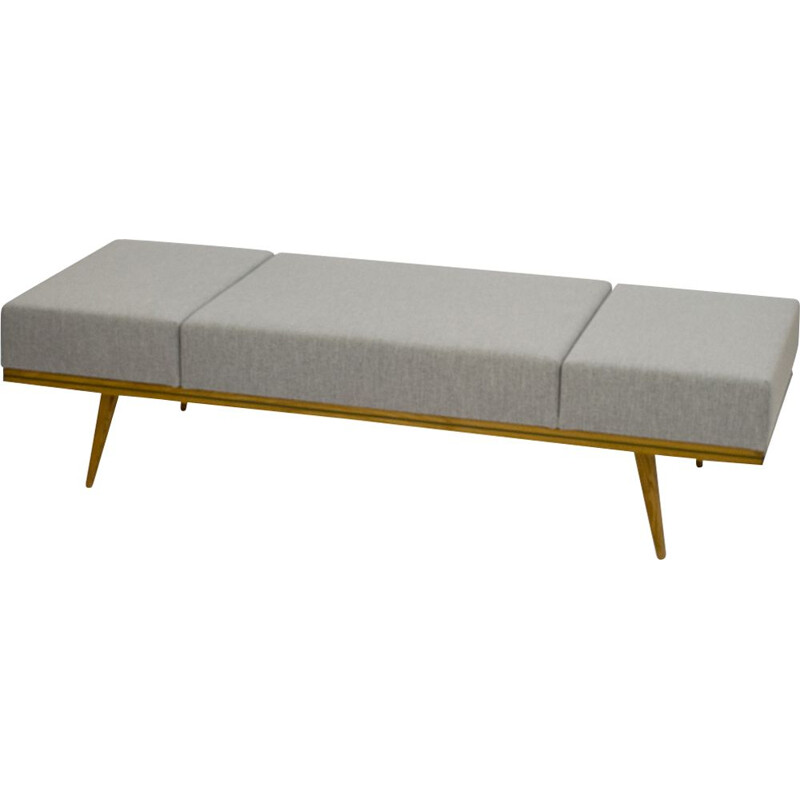 Vintage daybed in grey fabric 1960