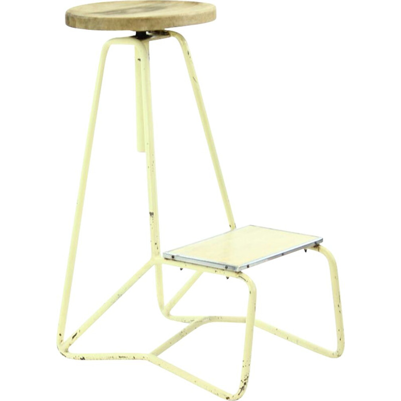 Vintage tall industrial bar stool chair