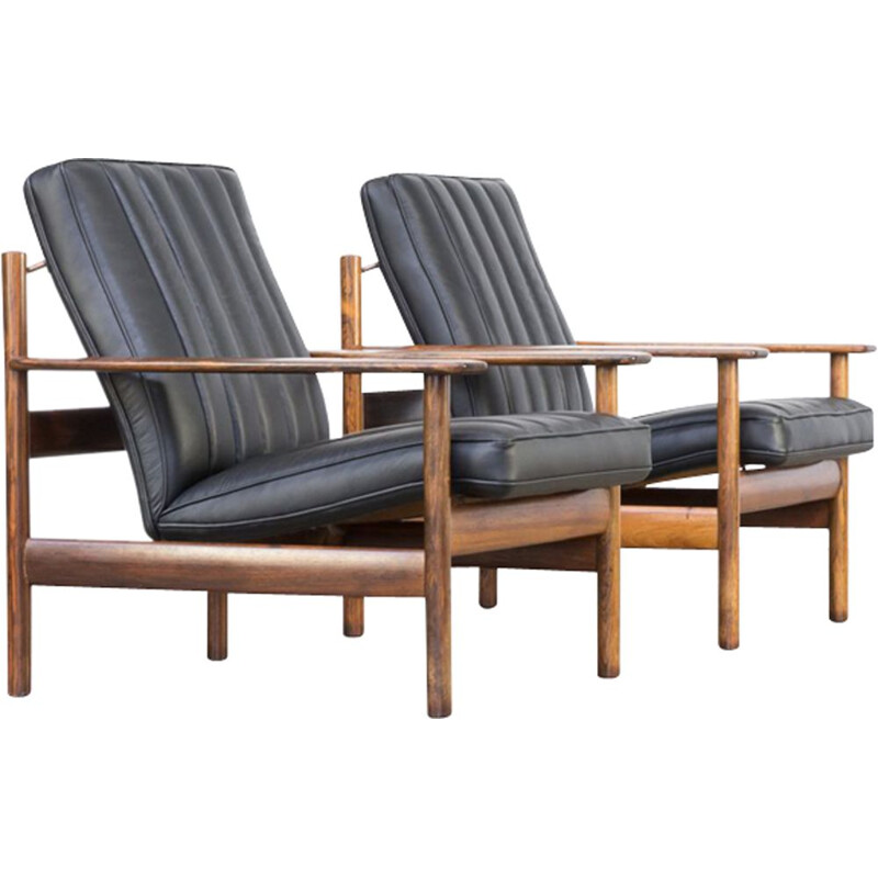 Set of 2 vintage lounge chairs par Sven Ivar Dysthe for Dokka
