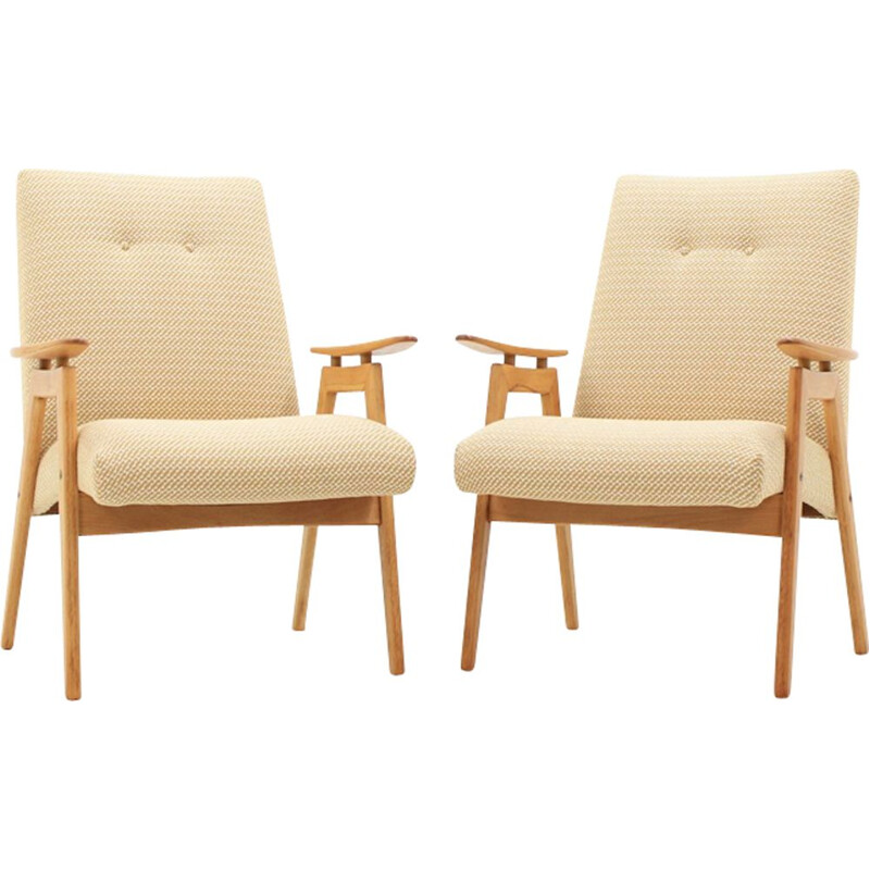 Vintage set of 2 lounge chair by Jaroslav Šmídek for Jitona