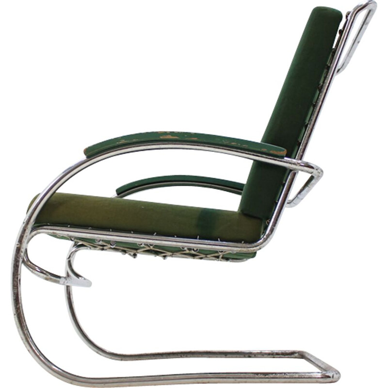 Vintage armchair Bauhaus in chrome by Anton Lorenz for Thonet