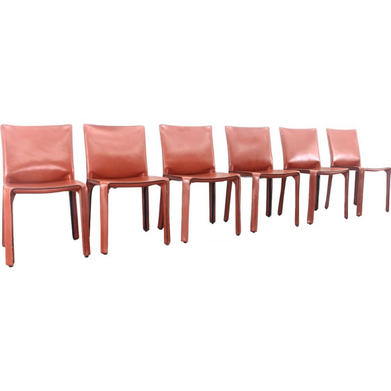 Superb Cab Chairs In Oxblood Red Leather Mario Bellini 1977 Ocoug Best Dining Table And Chair Ideas Images Ocougorg