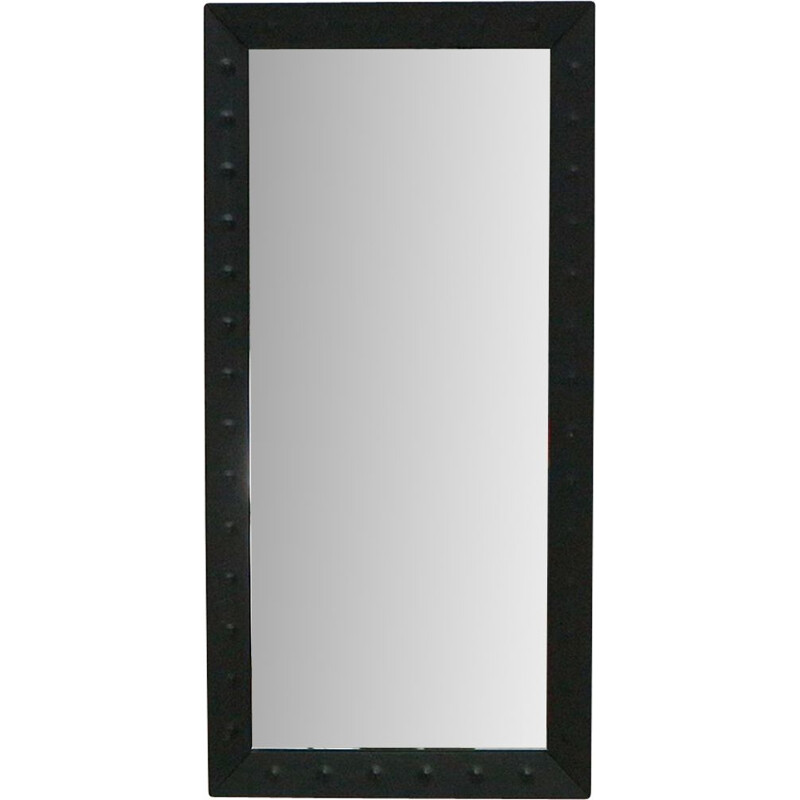 Vintage wall mirror with welded steel frame 1960