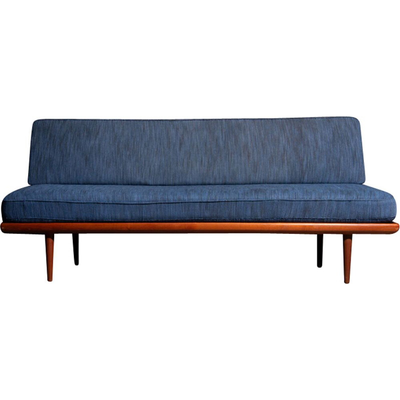 Vintage blue 3-seater sofa by Peter Hvidt for France and Son