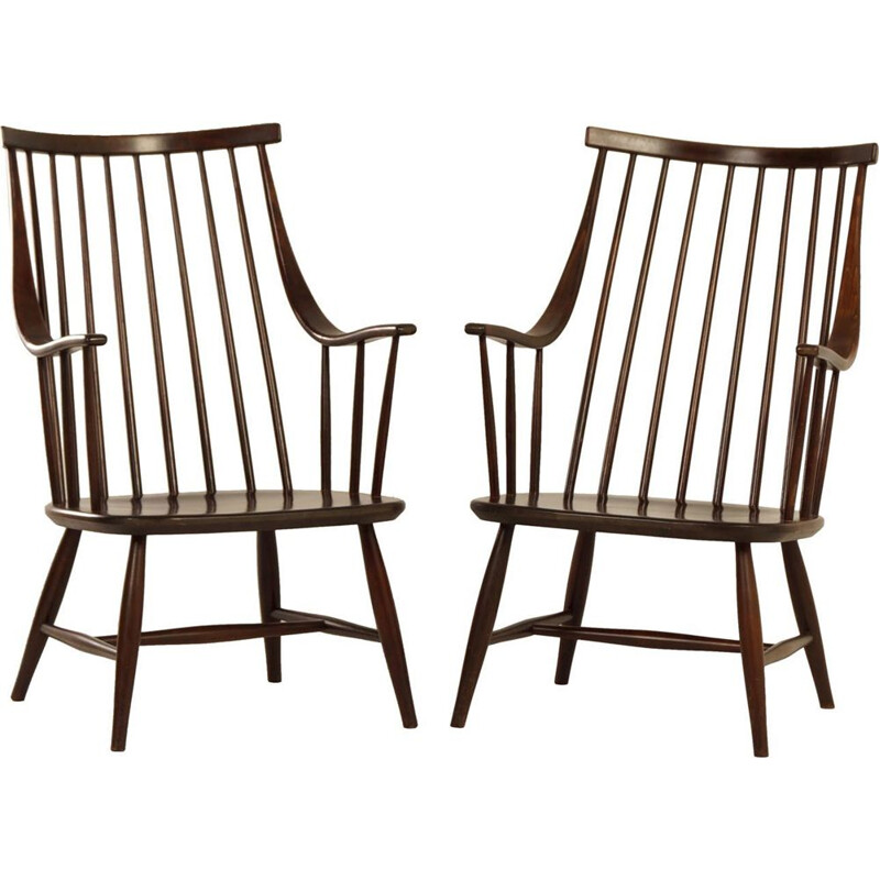 Set of 2 vintage Swedish armchairs by Lena Larsson for Nesto