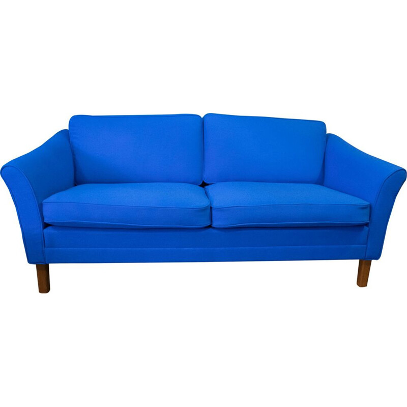 Vintage blue 2-seater sofa by Dux