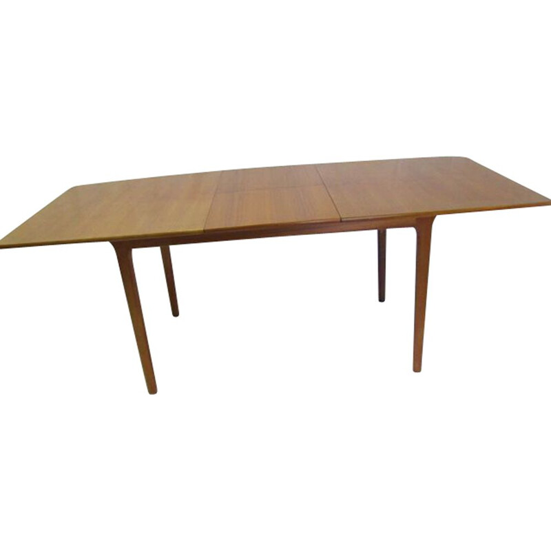 Vintage extendable dining table in teak by Mc Intosh