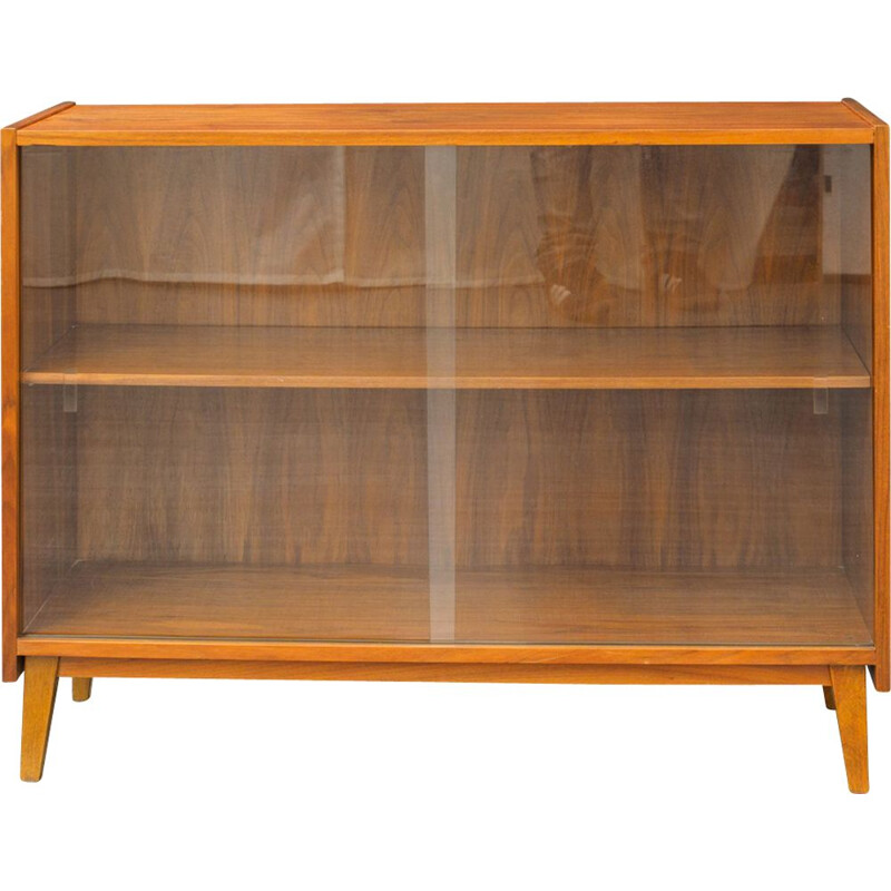 Vintage showcase in walnut wood 1960s