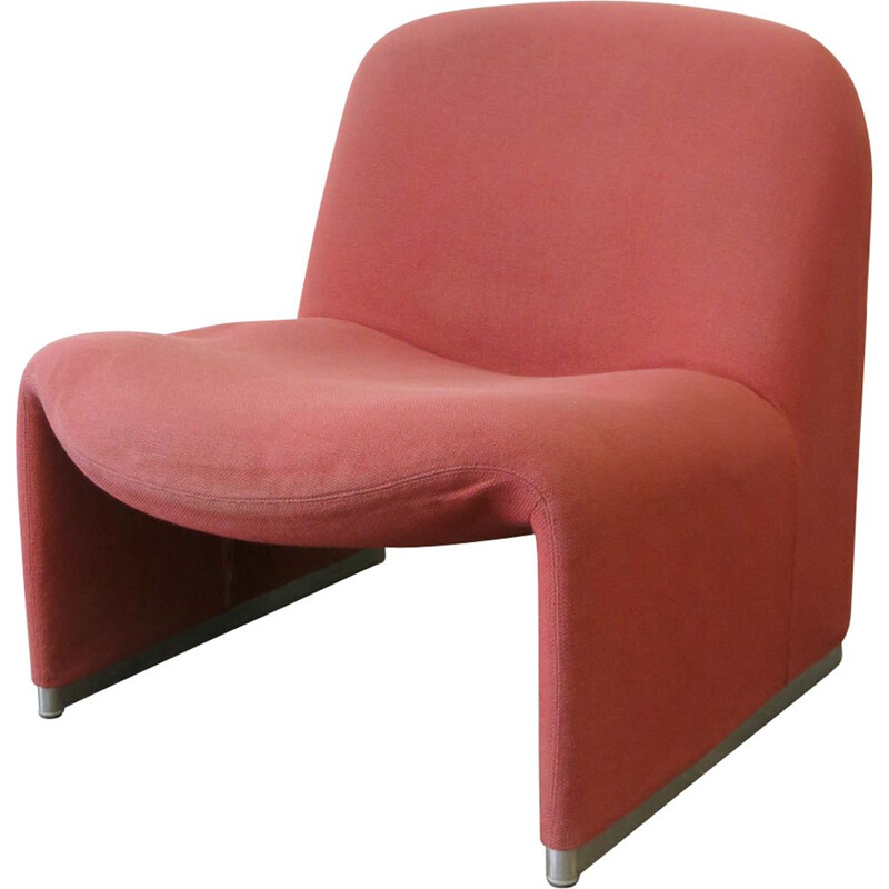 """Vintage pink armchair """"Alky"""" by Giancarlo Piretti"""