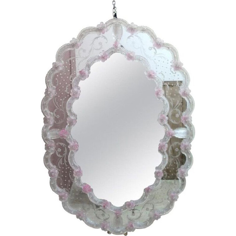 Vintage wall mirror in Murano glass