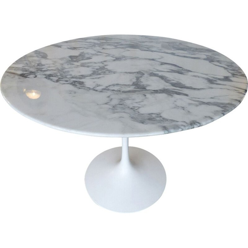 Table vintage marble arbescato 91cm for Knoll