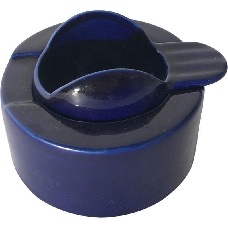Ashtray in ceramic by Angelo Mangiarotti for Fratelli Brambilla