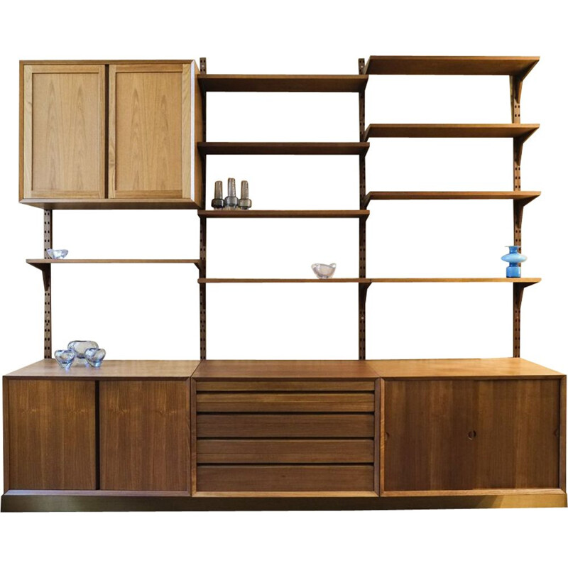 Vintage CADO wall system in teak by Poul Cadovius