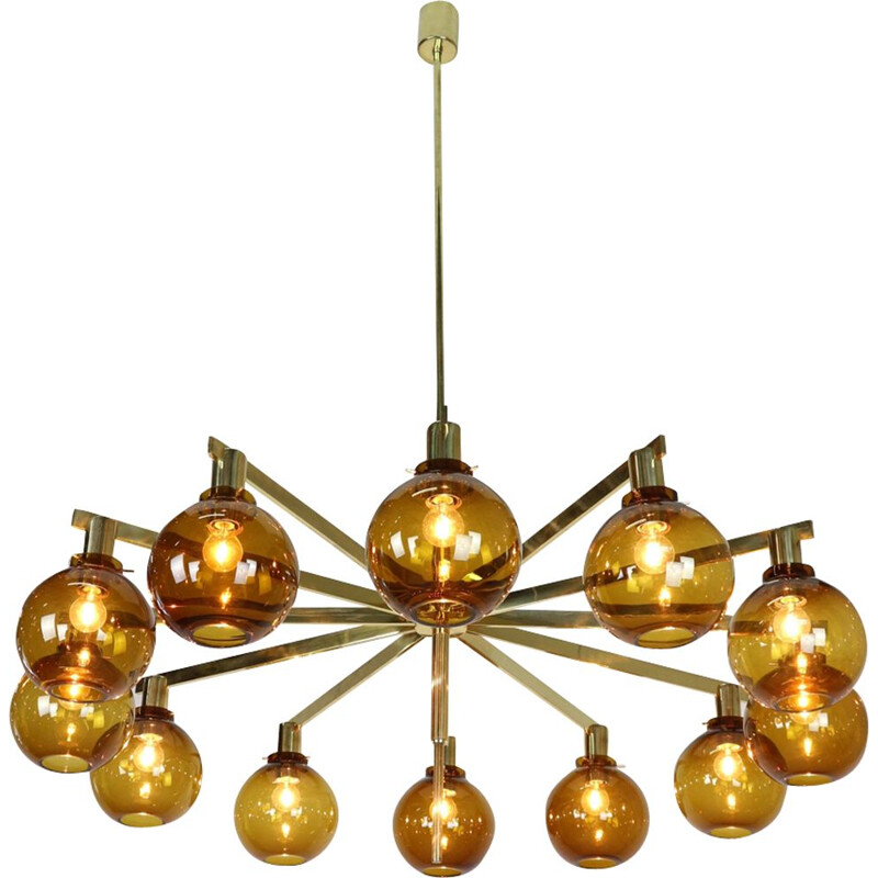 12-Arm Chandelier Model T34812 by Hans-Agne Jakobsson