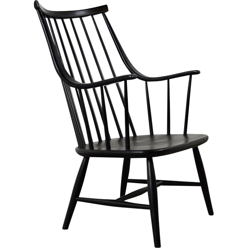 Vintage Black armchair by Lena Larsson for Nesto
