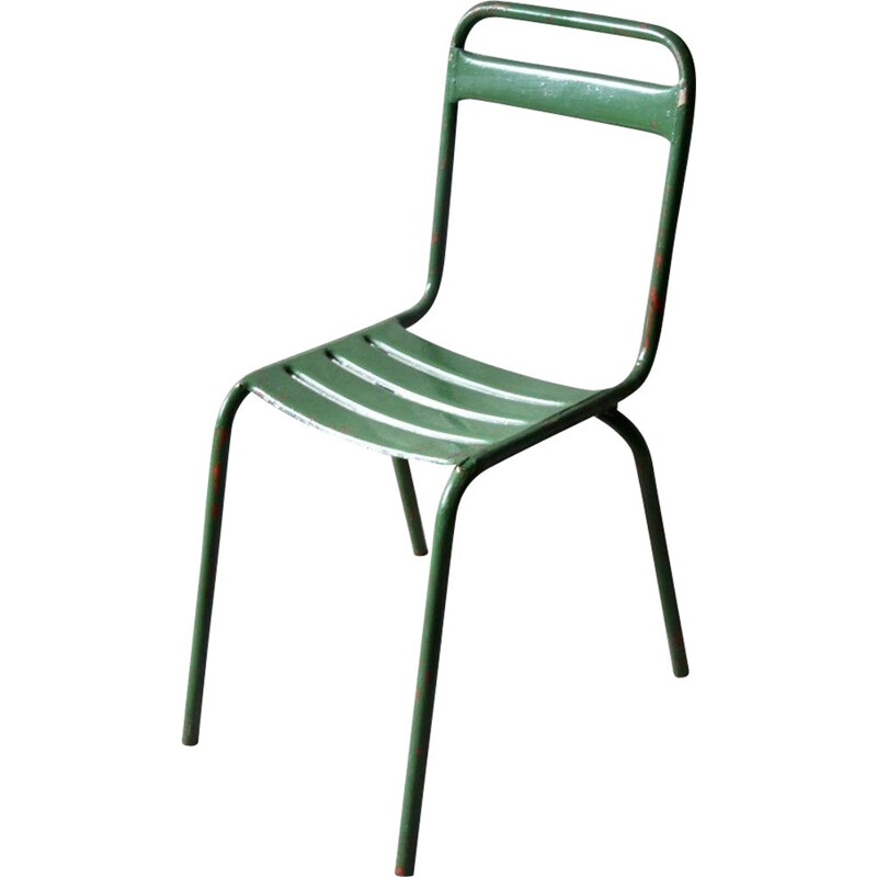 Set of 4 green bistro chairs