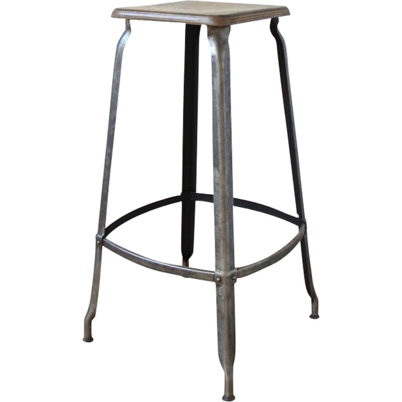 Vintage grey stool for Nicolle