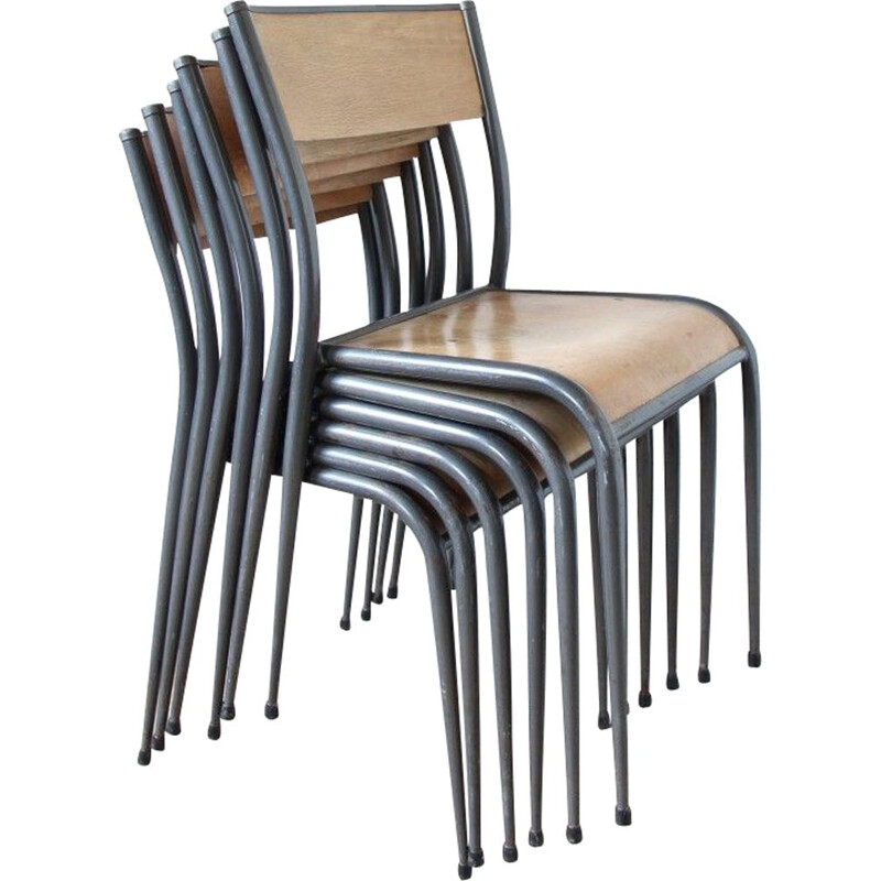 Set of 6 Mullca chairs type 510